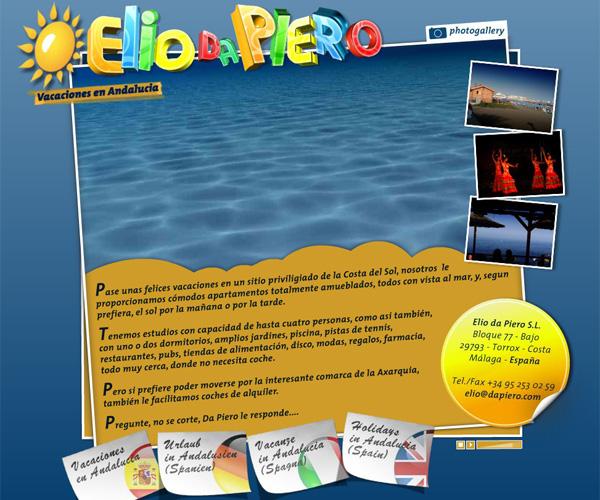 Holidays In Spain. Da Piero holidays in Spain: